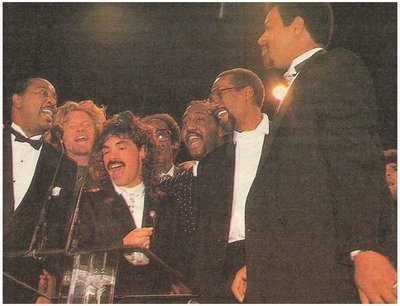 Temptations, The / Rock + Roll Hall of Fame | Magazine Photo | January 1989 | with Hall + Oates