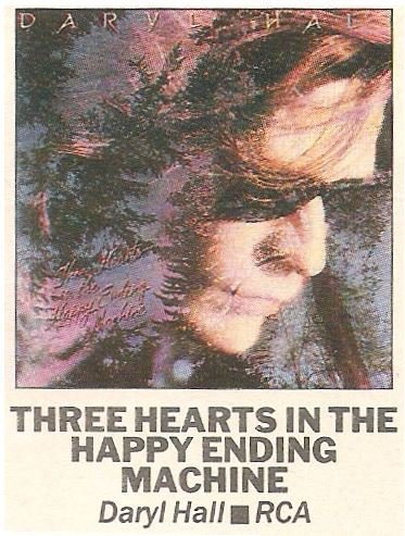 Hall, Daryl / Three Hearts in the Happy Ending Machine | Magazine Review | September 1986 | by David Wild