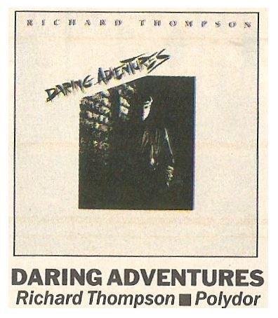 Thompson, Richard / Daring Adventures | Magazine Review | September 1986