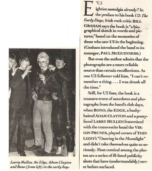 U2 / U2: The Early Days | Magazine Article | May 1990