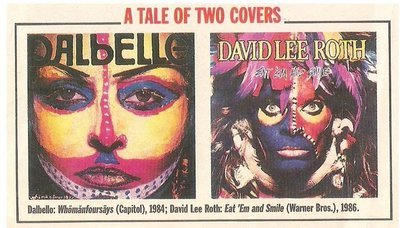 Roth, David Lee / A Tale of Two Covers | Magazine Photo | May 1983 | with Dalbello