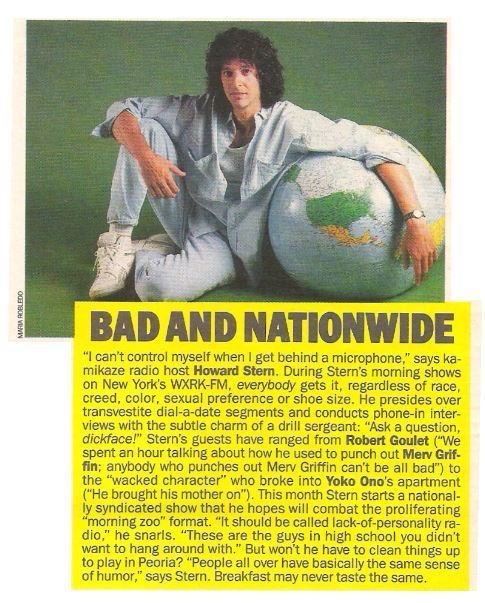Stern, Howard / Bad and Nationwide | Magazine Article | May 1983