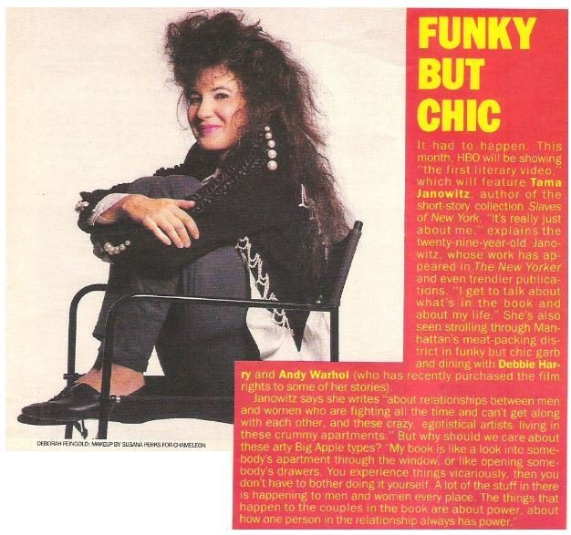 Janowitz, Tama / Funky But Chic | Magazine Article | May 1983