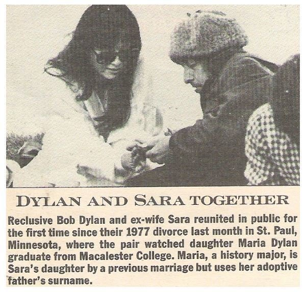 Dylan, Bob / Dylan and Sara Together | Magazine Article | July 1983 | with Sara Dylan