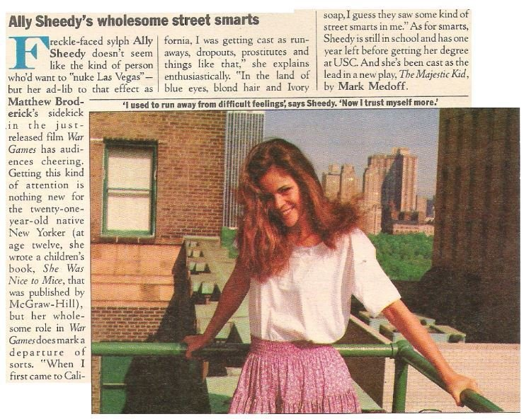 Sheedy, Ally / Ally Sheedy's Wholesome Street Smarts | Magazine Article | July 1983