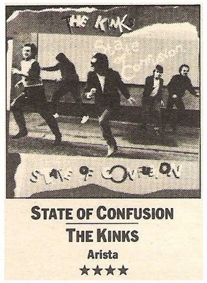 Kinks, The / State of Confusion | Magazine Review | July 1983 | by Parke Puterbaugh