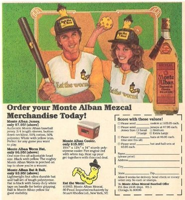Monte Alban (Mezcal) / Order Your Monte Alban Mezcal Merchandise Today! | Magazine Ad | 1983