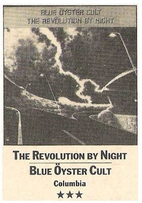 Blue Oyster Cult / The Revolution By Night | Magazine Review | March 1984 | by Errol Somay