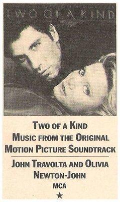 Newton-John, Olivia (+ John Travolta) / Two of a Kind - Soundtrack   Magazine Review   March 1984   by J.D. Considine
