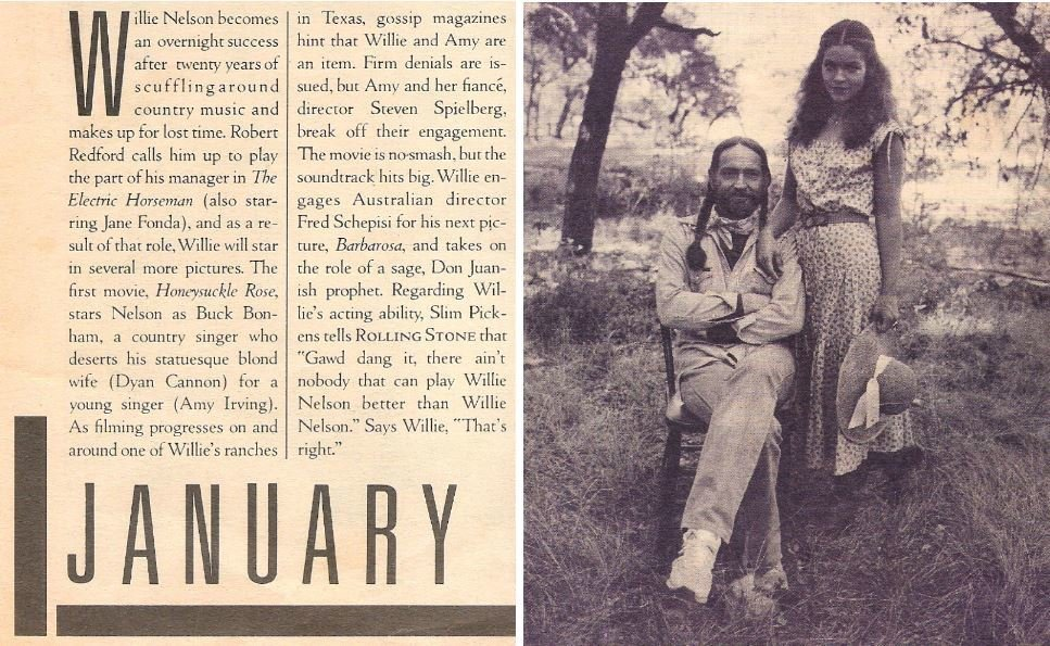 Nelson, Willie / With Amy Irving in Honeysuckle Rose | Magazine Article | January 1980