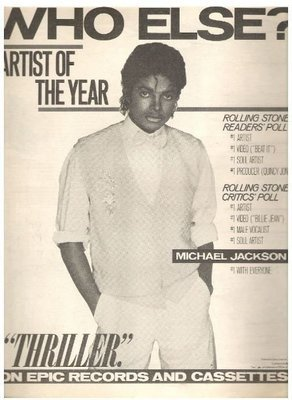 Jackson, Michael / Who Else? - Artist of the Year | Magazine Ad | March 1984