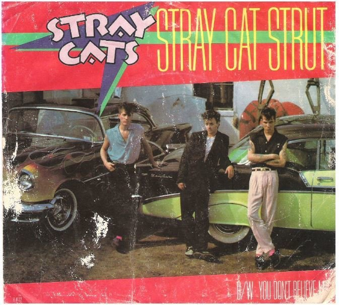 Stray Cats / Stray Cat Strut | EMI America B-8122 | Picture Sleeve | July 1982