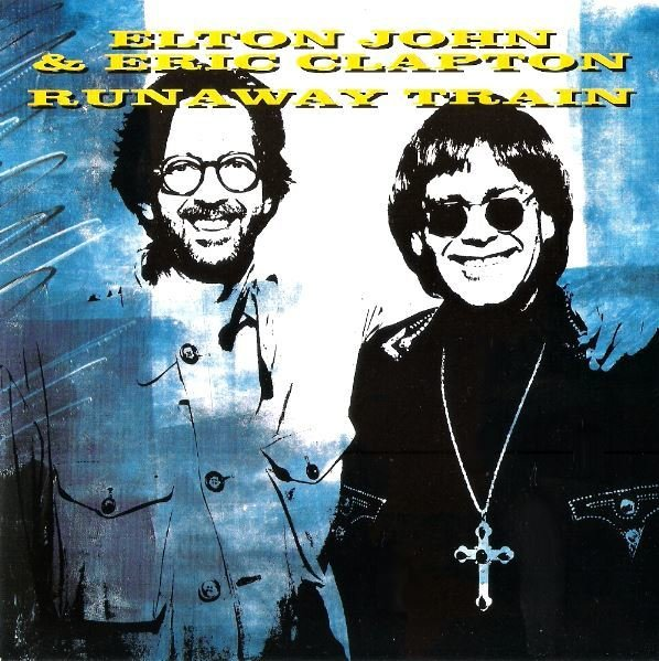 "John, Elton / Runaway Train | Rocket EJS-29 | Single, 7"" Vinyl | July 1992 | with Eric Clapton | England"