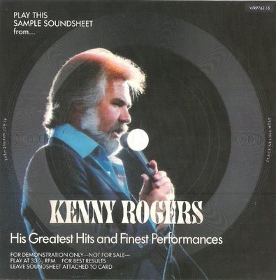 Rogers, Kenny / His Greatest Hits and Finest Performances | Eva-Tone V/R 9762-15 | Flexi-Disc, 7