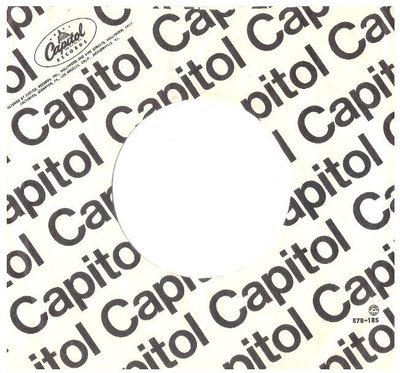 Capitol / Diagonal Print | White-Black | Record Company Sleeve (7