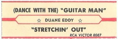 Eddy, Duane / (Dance With the) Guitar Man | RCA Victor 8087 | Jukebox Title Strip | September 1962