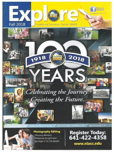 Explore (NIACC) / 100 Years (1918-2018) | Catalog | Fall 2018