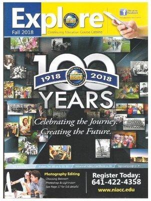 Explore (NIACC) / 100 Years (1918-2018) | Catalog | Fall 2018