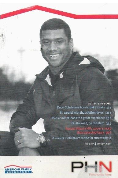 Wilson, Russell / American Family Insurance   Magazine   Fall 2013