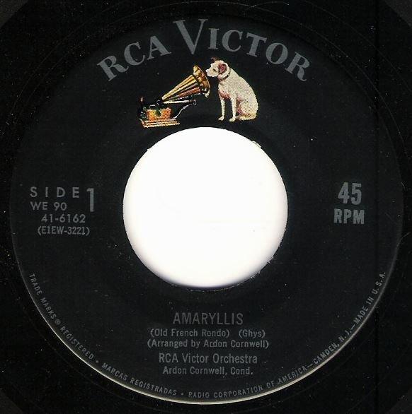"RCA Victor Orchestra / Amaryllis | RCA Victor 41-6162 | Single, 7"" Vinyl"