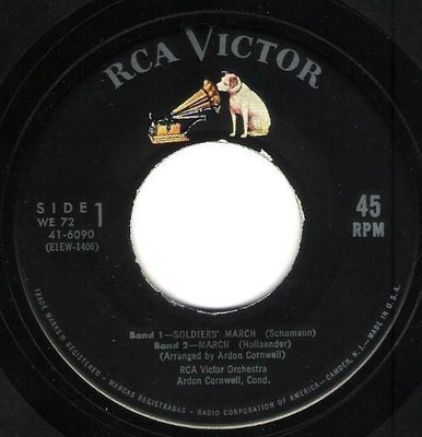 RCA Victor Orchestra / Soldiers' March + 3 | RCA Victor 41-6090 | EP, 7