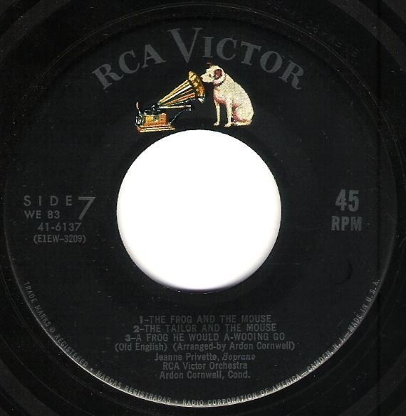 "RCA Victor Orchestra / The Frog and the Mouse + 6 | RCA Victor 41-6137 | EP, 7"" Vinyl"