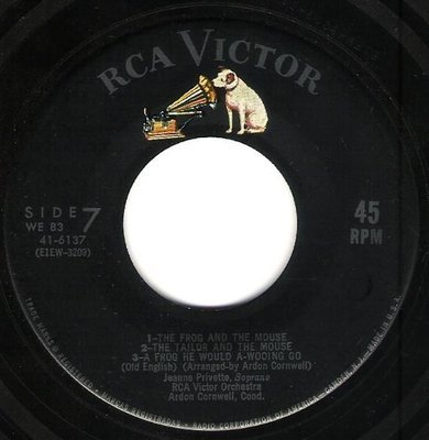 RCA Victor Orchestra / The Frog and the Mouse + 6 | RCA Victor 41-6137 | EP, 7