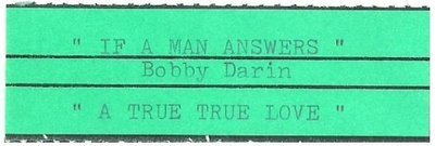 Darin, Bobby / If a Man Answers | Jukebox Title Strip | September 1962