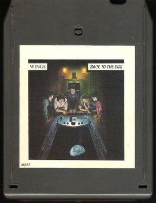 Wings / Back To the Egg | Columbia FCA-36057 | Light Black Shell | 8-Track Tape | June 1979 | Paul McCartney