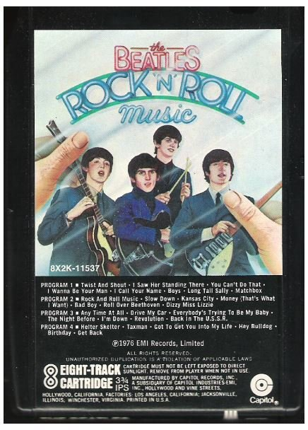 Beatles, The / Rock 'N' Roll Music | Capitol 8X2K-11537 | Black Shell | 8-Track Tape | June 1976
