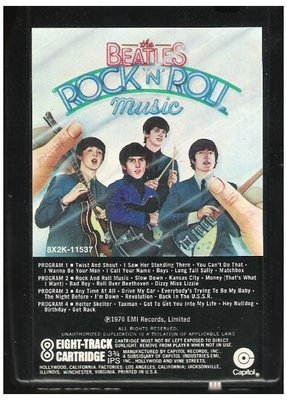 Beatles, The / Rock 'N' Roll Music | Capitol 8X2K-11537 | Black Shell | 8-Track Tape | June 1976