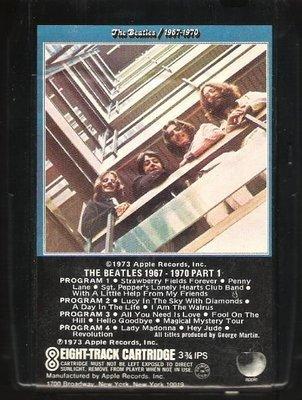 Beatles, The / The Beatles 1967-1970 | Apple 8XK-3407  | Black Shell | 8-Track Tape | April 1973 | Part 1