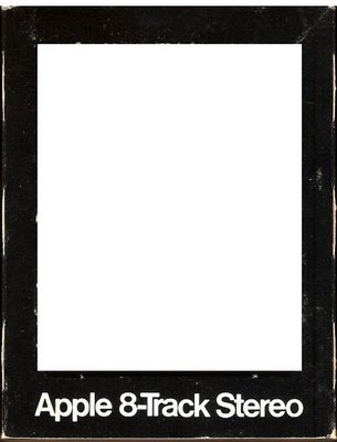 Apple / Black with White Lettering | Record Company Sleeve for 8-Track Tapes