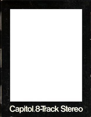 Capitol / Black with White Lettering | Record Company Sleeve for 8-Track Tapes