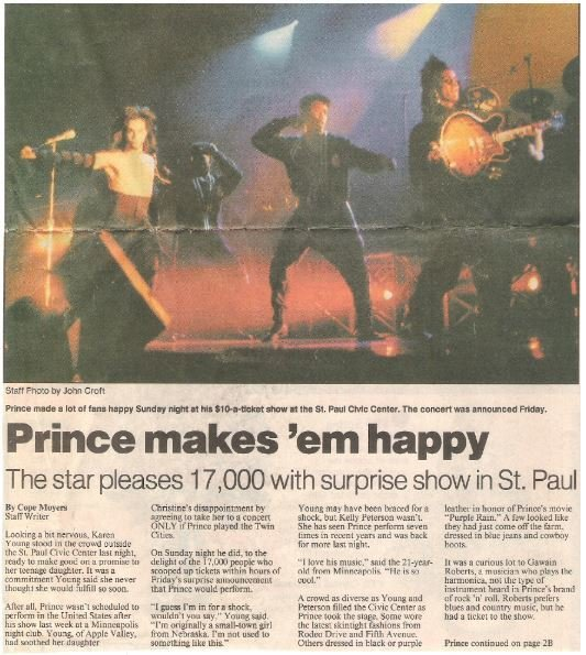 Prince / Prince Makes 'em Happy | Newspaper Article | May 1990