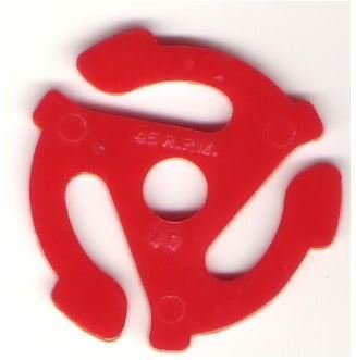45 R.P.M. - Made in U.S.A. / Plastic | 45 RPM Adapter | Red