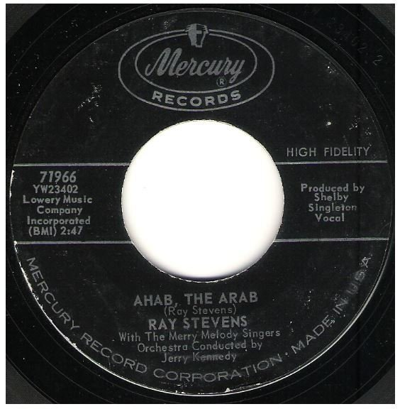 "Stevens, Ray / Ahab, the Arab | Mercury 71966 | Single, 7"" Vinyl 