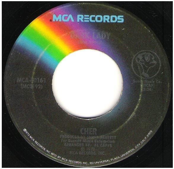 "Cher / Dark Lady | MCA 40161 | Single, 7"" Vinyl | December 1973"