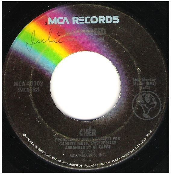 "Cher / Half-Breed | MCA 40102 | Single, 7"" Vinyl 