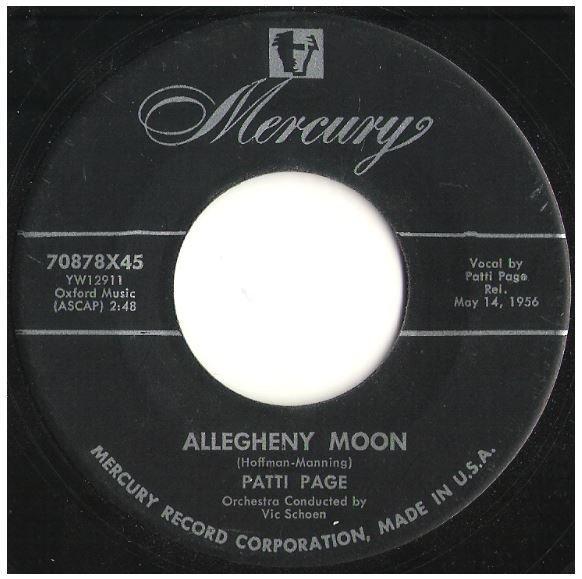 "Page, Patti / Allegheny Moon | Mercury 70878 | Single, 7"" Vinyl 