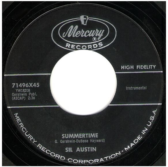 "Austin, Sil / Summertime | Mercury 71496 | Single, 7"" Vinyl 
