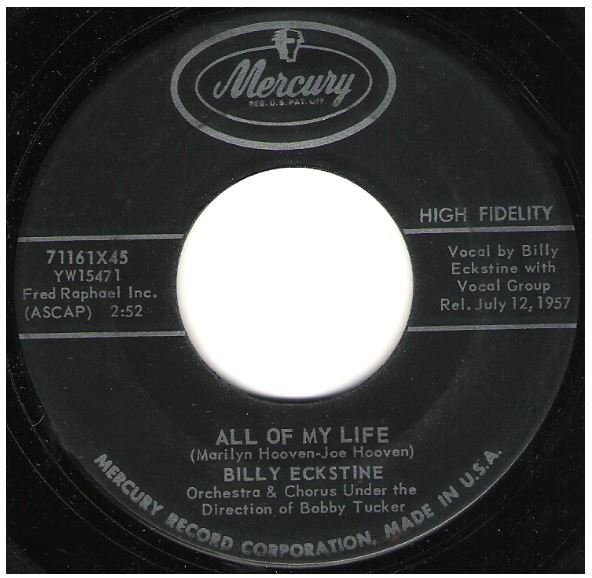 "Eckstine, Billy / All of My Life | Mercury 71161 | Single, 7"" Vinyl 