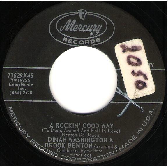 """Washington, Dinah (+ Brook Benton) / A Rockin' Good Way   Mercury 71629   Single, 7"""" Vinyl   May 1960"""