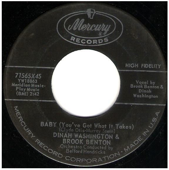 "Washington, Dinah (+ Brook Benton) / Baby (You've Got What It Takes) | Mercury 71565 | Single, 7"" Vinyl 