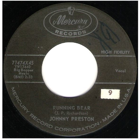 "Preston, Johnny / Running Bear | Mercury 71474 | Single, 7"" Vinyl 