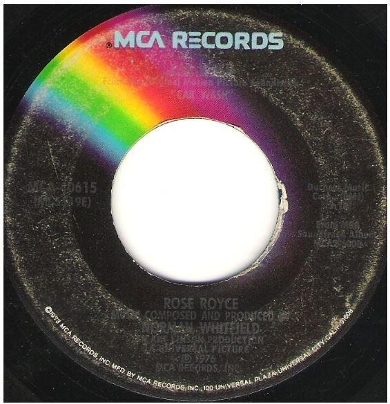 "Rose Royce / Car Wash | MCA 40615 | Single, 7"" Vinyl | September 1976"