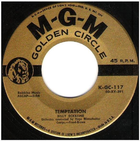 "Eckstine, Billy / Temptation | MGM Golden Circle K-GC-117 | Single, 7"" Vinyl"