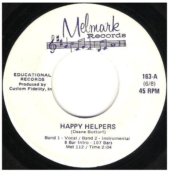 "Uncredited Artists / Happy Helpers + 3 | Melmark 163 | EP, 7"" Vinyl"