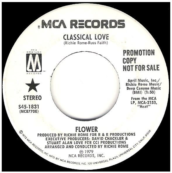 "Flower / Classical Love | MCA (Montage) S45-1831 | Single, 7"" Vinyl 