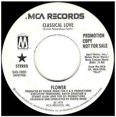 Flower / Classical Love | MCA (Montage) S45-1831 | Single, 7